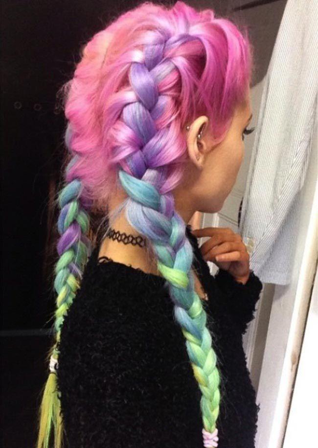 Радуга в волосах: девушки красят волосы в пастельные тона всех цветов радуги