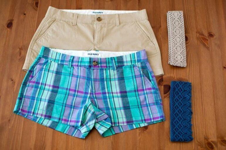 шорты из простой ткани