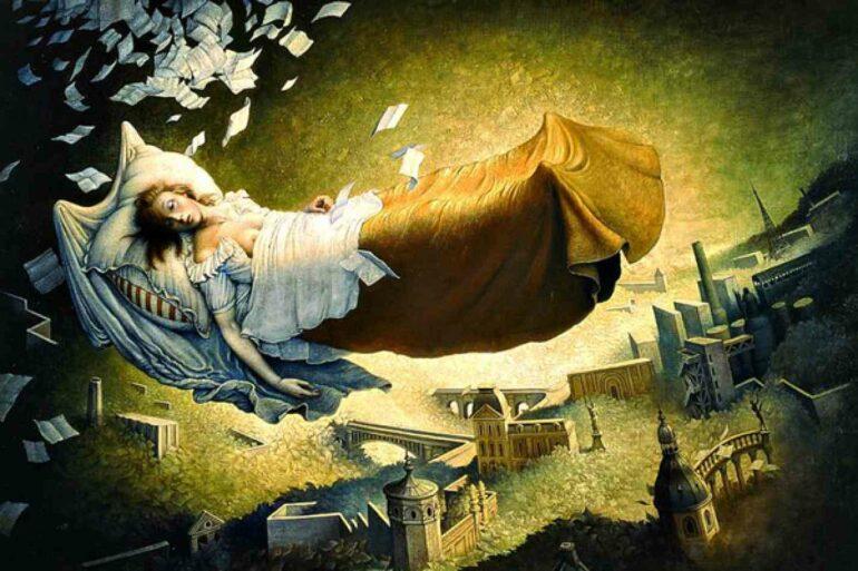 женщина видит вещий сон