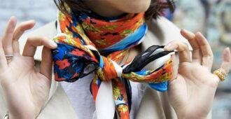 Как завязать шарф палантин