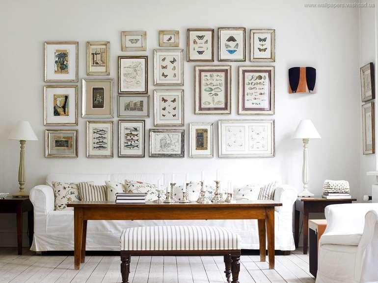 Правила размещения картин на стене в интерьере квартиры