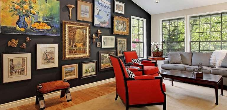 Картины на стене в интерьере