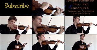 Иоганн Пахельбель на 8 скрипках