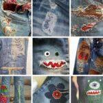 как поставить заплатку на джинсы