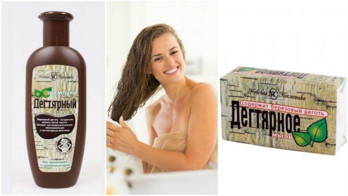 Мыло применяется и для мытья волос