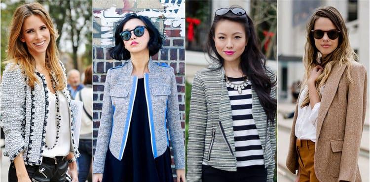 Модели женских пиджаков из твида