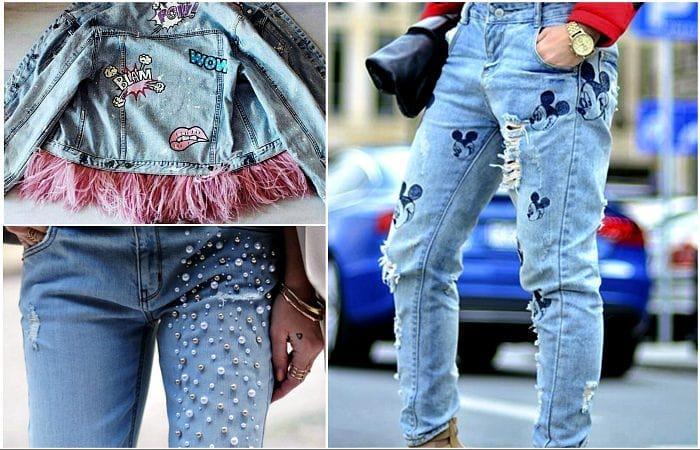 оригинальные заплатки на джинсы