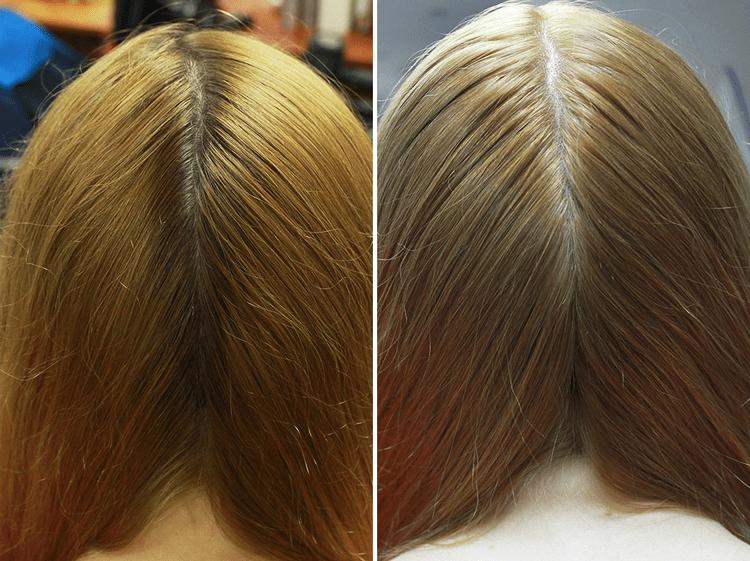Результат покраски волос ромашкой