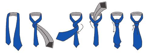 Как завязать галстук пошагово, виды галстуков и узлов