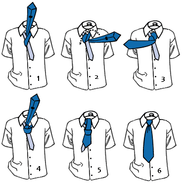 Как завязать галстук пошагово
