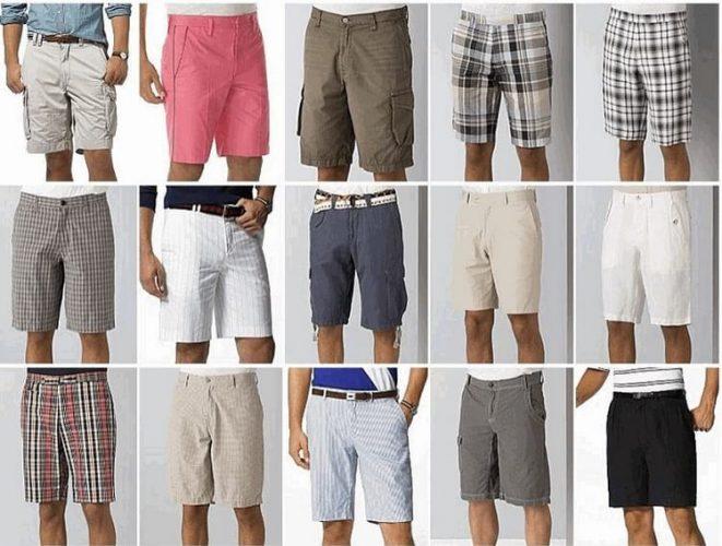 Виды мужских шорт
