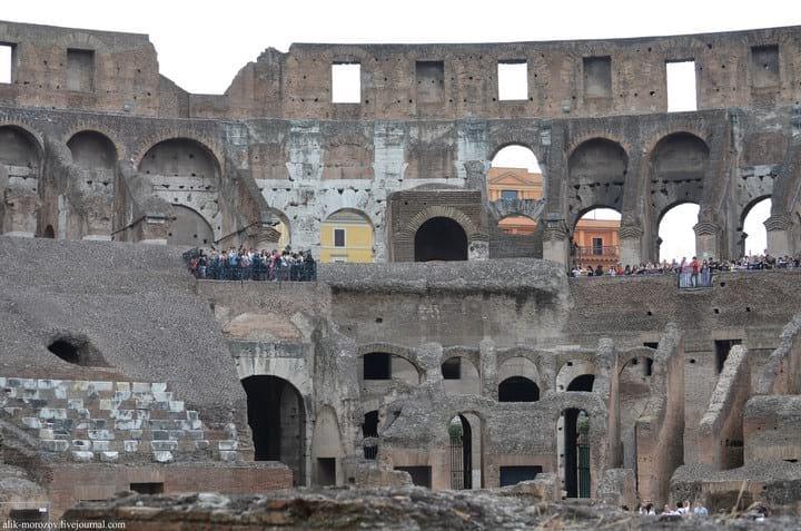 Как выглядит Римский Колизей изнутри