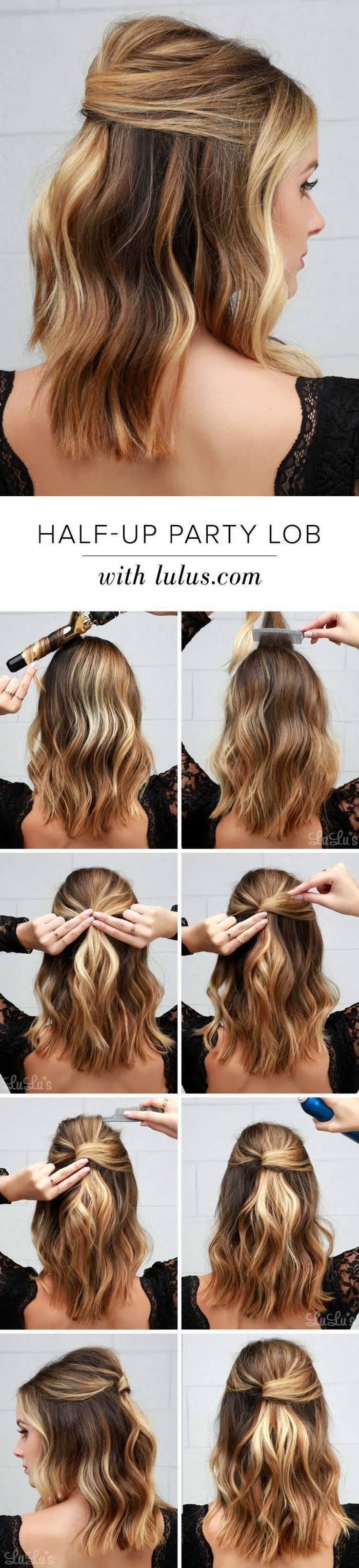 Оригинальные и простые причёски для средних волос