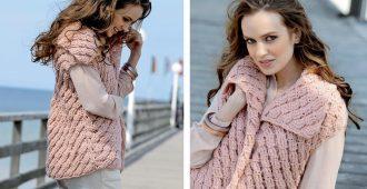 Как связать модную женскую жилетку своими руками
