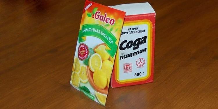 Шипучка из соды и лимонной кислоты