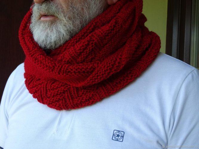 узоры для мужского шарфа как связать схемы фото и видеоуроки