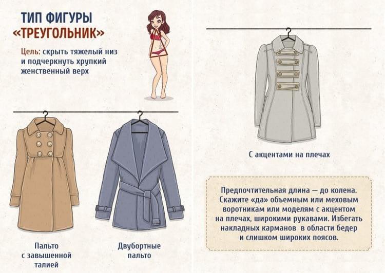 """Варианты пальто для фигуры """"Груша"""" или же """"Треугольник"""""""