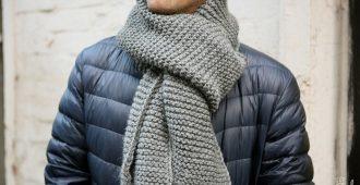Как связать узоры для мужского шарфа