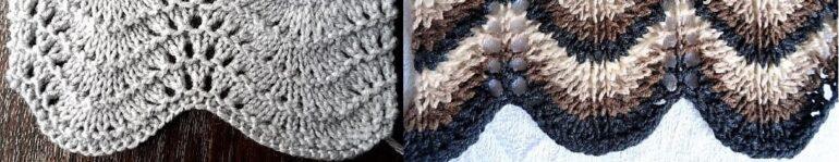 """вязание """"перьями"""""""