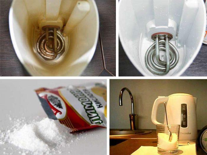 чем очистить чайник от накипи внутри