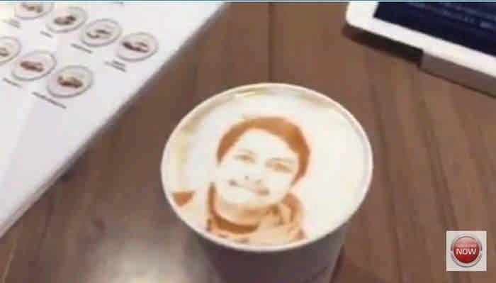 Ваше лицо на пенке кофе. Решитесь сделать глоток?