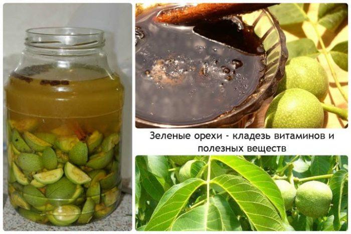 Сок зеленых орехов полон витаминов