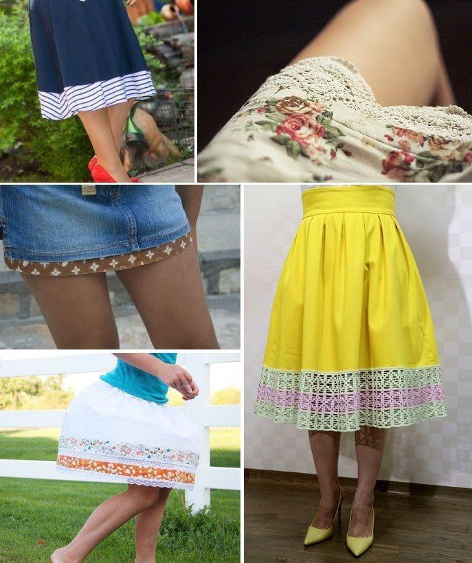 Удлиняем юбку своими руками 50
