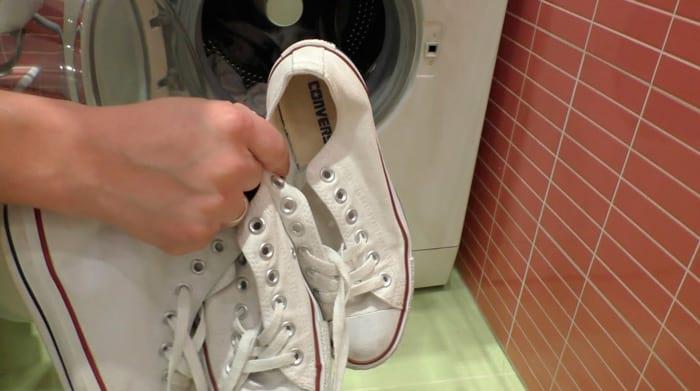 как стирать кроссовки в стиральной машинке - Специальный режим