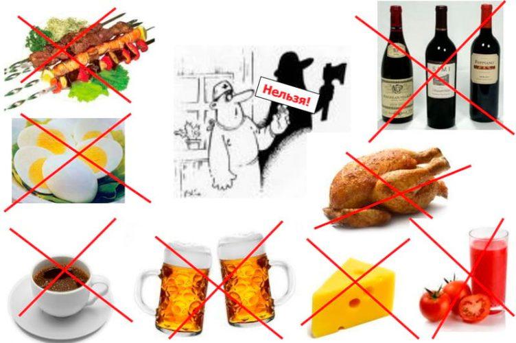 Какие продукты нужно исключить из рациона