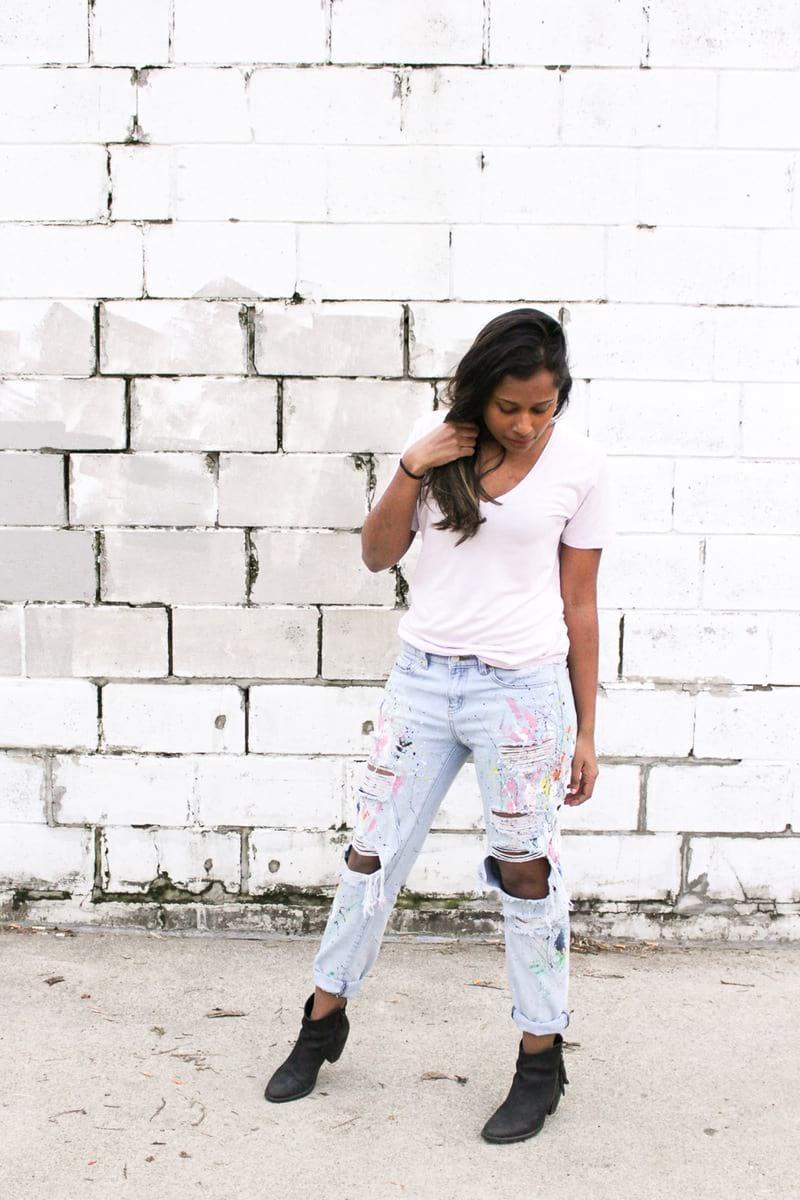 wsi imageoptim diy paint splattered boyfriend jeans