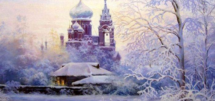 красивая снежная погода