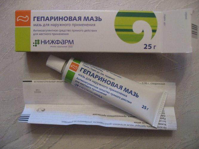 Гепариновая мазь от тромбов, варикоза, прыщей, купероза