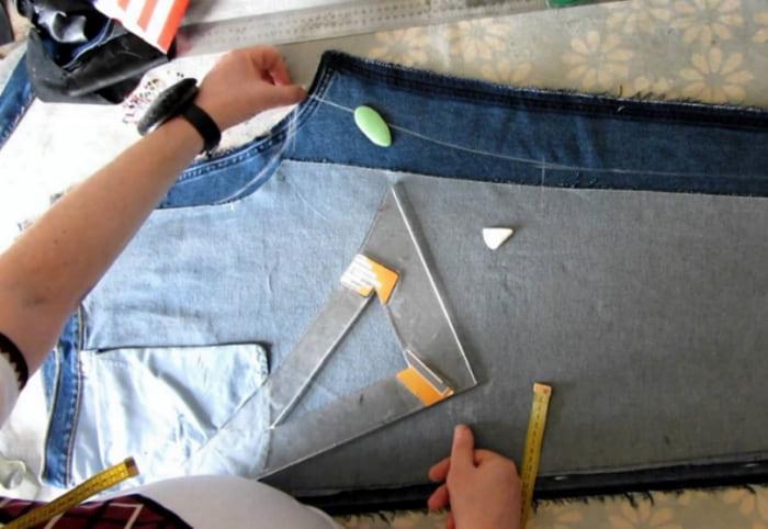 ушиваем джинсы по боковому шву