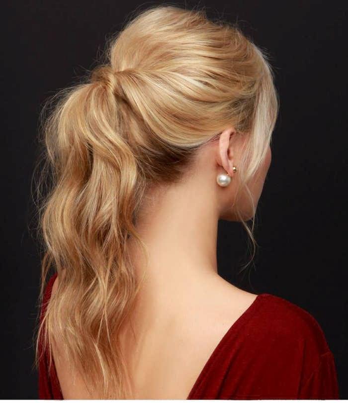 Хвостик для средних волос