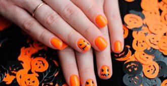 Маникюр на Хэллоуин на короткие ногти фото