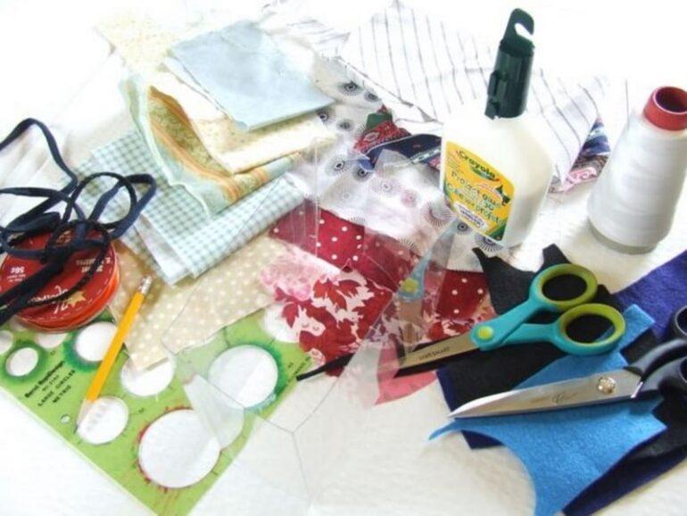 ножницы ткань и нитки