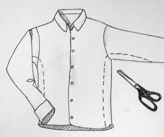 ушиваем рубашку в талии