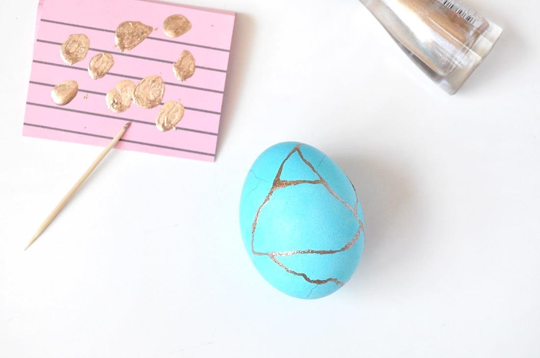 Пасхальные яйца в стиле кинцуги