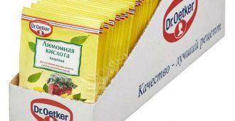 упаковка лимонной кислоты