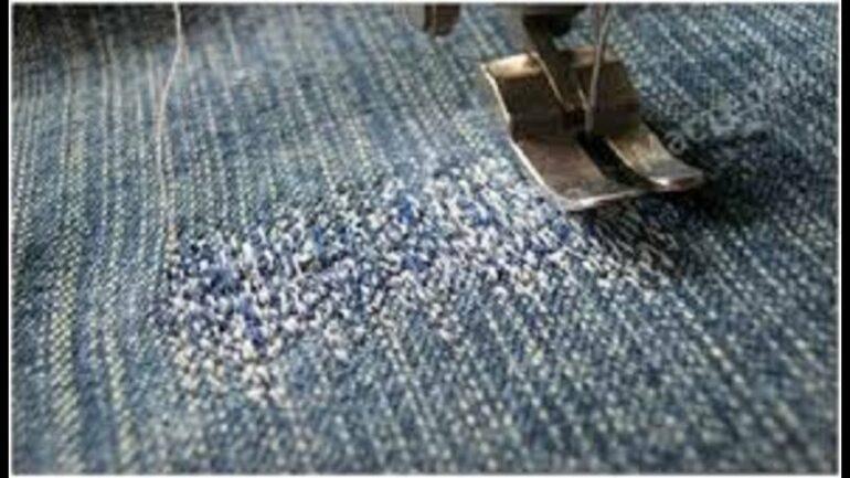 как поставить заплатку на джинсы штуковка