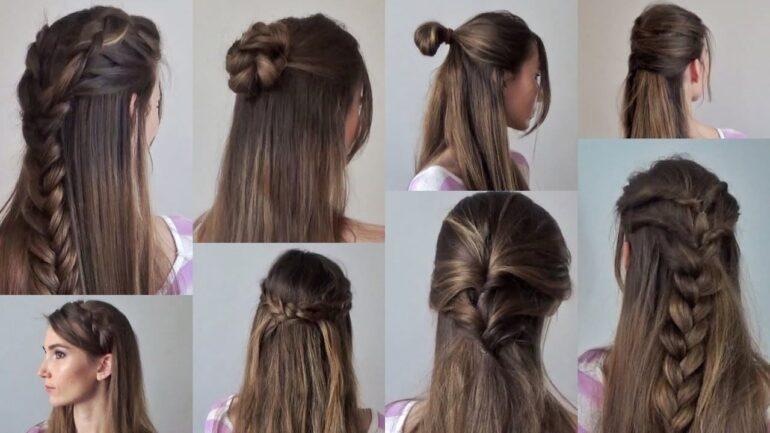 девушка с распущенными волосвами