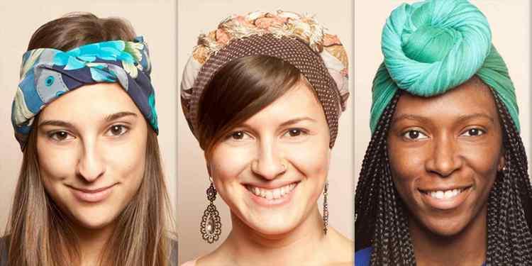 как завязывать платок на голову