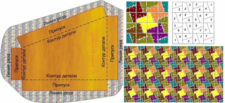 схема и шаблон одеяла