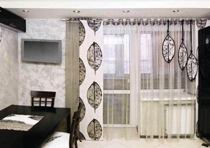 Современные шторы на кухню: лучшие новинки с фото