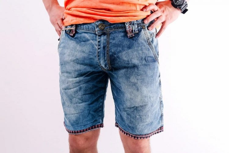 Мужские шорты из старых брюк