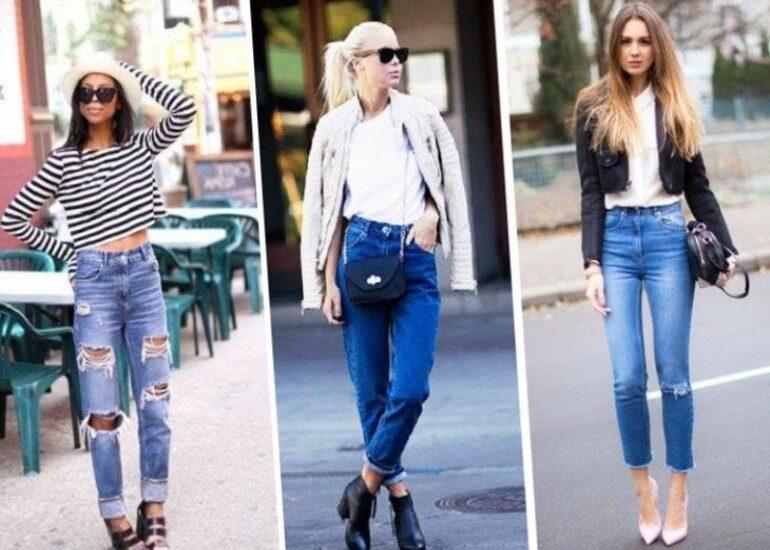 c чем носят джинсы с завышенной талией