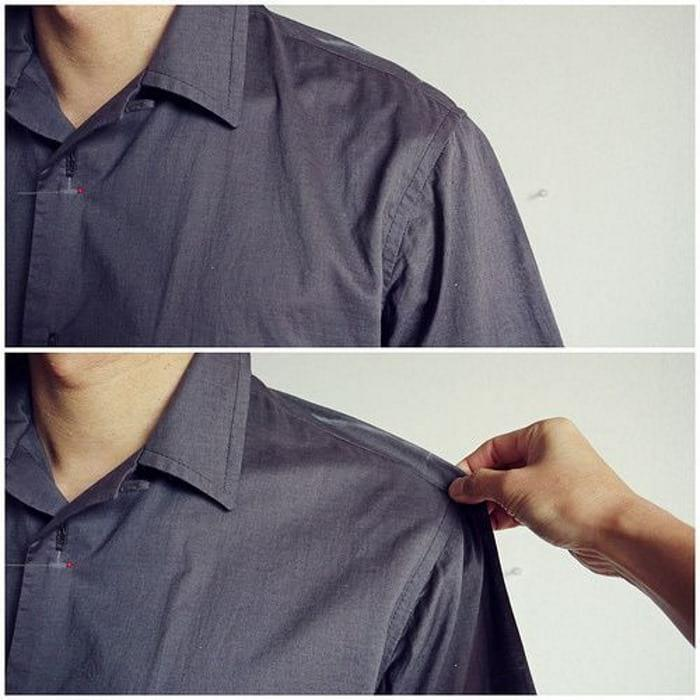 ушиваем рубашку в плечах
