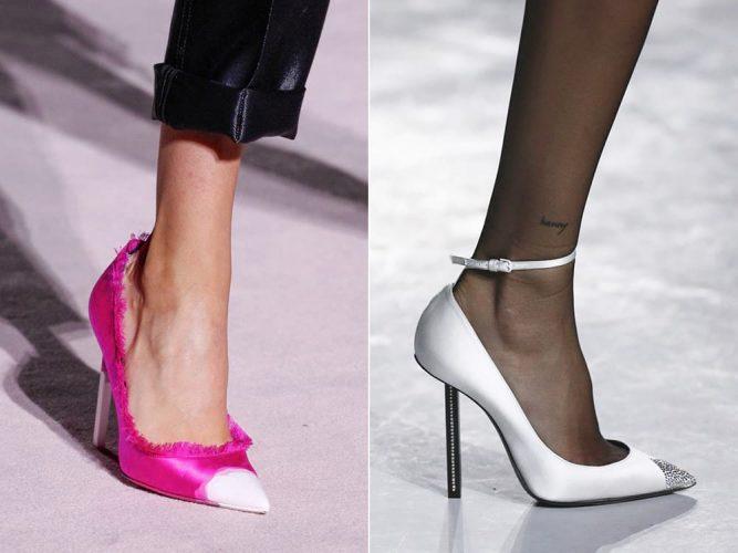 Модные остроносые туфли