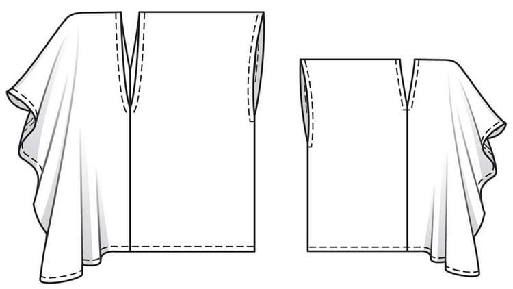 Вариант туники без выкройки