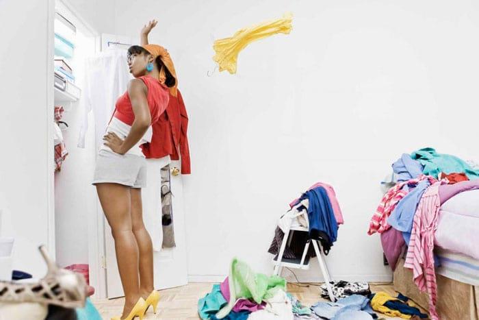 Как убирать в шкафу